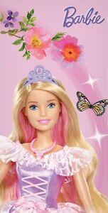 Barbie Beach Towel Pink Barbie Princess Butterfly  140 x 70 100% Cotton