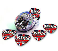 Manchester City X 5 Kiss Guitar Picks Collection In Tin