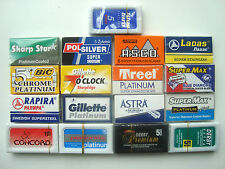 100 mixed Double Edge Safety DE Razor Blades sample pack Personna Gillette Bic.