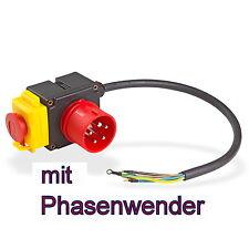 Schalter - Stecker Kombination für Holzspalter, Kreissägen usw. 400V - KEDU KOA7