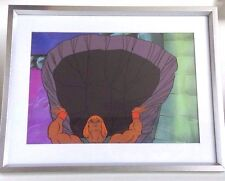 He-Man Masters of the Universe Production Cel and Copy Background in Frame