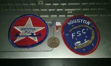 Huston Figure Skating Club Pin Badge & patches 1982