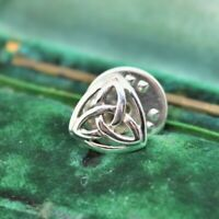 Vintage Sterling silver lapel tie pin Art Deco Celtic Knot Peaky Blinders #O440
