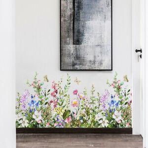 2 Stk. Wandtattoo Blumen Blüten Fenster Aufkleber Dekoration Frühling Sticker
