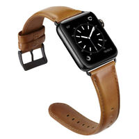 Luxury Real Leather Watch Band Strap Bracelet for Apple Watch Series 4/3/2/1 New
