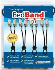 Bed Band Bed Sheet Holder - BB-Black (4 Pack)
