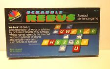 1986 SCRABBLE REBUS  Symbol Sentence Board Game Selchow & Righter- Complete