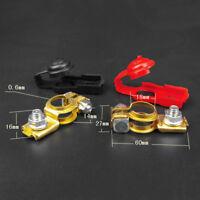 1 Pair Brass Positive Nagative Car Auto Battery Terminal Clamp Clips Connector