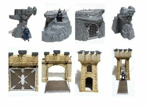 Schleich World of Knights Castle Tower Gate Cave Mountains - Choose