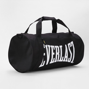 Everlast Black Brooklyn Barrel Bag - Men Woman - Perfect for Gym, Weekend Away