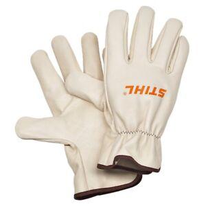 Stihl Full Grain Leather Work Gloves 0000 884 1192 Garden Worker Gloves, Small