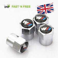 BMW 'M-Sport' M-Power Chrome effect quality  Valve Dust Caps.