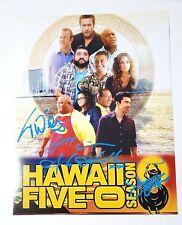 HAWAII FIVE-0 5-0 CAST SIGNED 11x14 PHOTOGRAPH ALEX O'LOUGHLIN CAAN WILY MCBRIDE