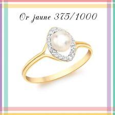 Bague perle de culture d'eau douce 5 mm .Or jaune 9 Carats. Réf: 39101754
