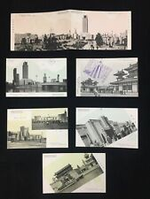 7 Lot 1937 Nagoya Japan Hand Tinted Postcards Pan-Pacific Peace Exposition Fair