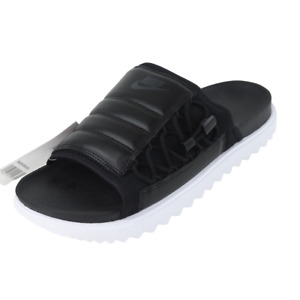 Nike Asuna NA Slides Black White Classic Laces Mens Sandals CW9703 002 Size 10