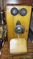 antique Stromberg Carlson Oak wall mount crank telephone