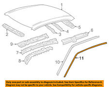 TOYOTA OEM 98-02 Corolla Roof-Drip Molding Right 7555102051