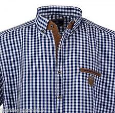 Lavecchia Kurzarm Karo Hemd Shirt Übergröße Big Herren  Blau XXXL 3XL