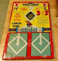 1948 Damon Runyan BASEBALL PUNCHBOARD GAME Memorial Cancer Fund 13x20 One Cent