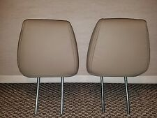 2009 Lincoln Navigator headrest pair left and right tan leather OEM PERFECT Each