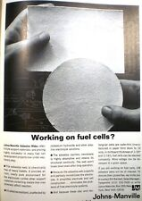 1966 JOHNS-MANVILLE Fuel Cells ASBESTOS Webs Electrolyte Support