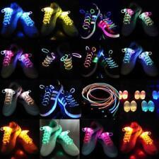 LED Flash Luminous Light Up Glow Strap Shoelace Shoe Laces Party Disco Props Con