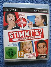 PS 3 Spiel Stimmt's - Wahrheit oder Lüge (Sony PlayStation 3, 2010)