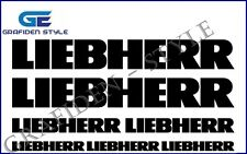 7 Stück LIEBHERR - XXL Bagger Aufkleber - Sticker - Decal !