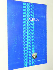 Prospectus Auto ALFA ROMEO 75  1986  brochure prospekt car catalogue