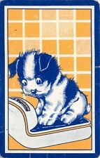 Dog Puppy on Scale Head Single Swap Playing Card Vintage