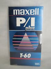 Sealed Maxell P/I plus T-60 vhs tapes time lapse