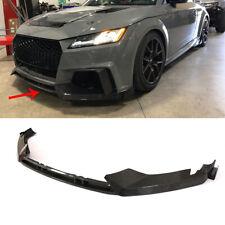 3PCS Front Bumper Lip Spoiler Splitter For Audi TT RS 16-18 A Style Carbon Fiber