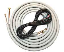 Mini Split 1/4 & 3/8 Insulated Copper, 14/4 Electrical Wire Set #1 - 50ft