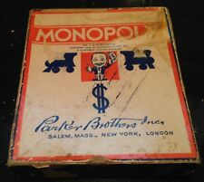 Vintage 1935 Parker Brothers Monopoly Board Game No Board