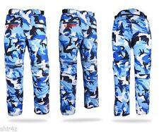 Pantaloni blu per motociclista taglia XL