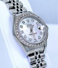 Rolex Datejust 79174 Mop Diamond Dial 1.05Ct Diamond Bezel Ladies Watch *MINT*