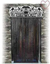 Halloween Decoration Door Topper Scary Decor Keep Out Horror Spooky
