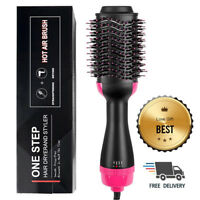 2 in 1 Straightening & Drying Hair Dryer & Hair Brush Hot Air Comb
