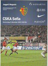 Orig.PRG     Europa League   2009/10     FC BASEL - ZSKA SOFIA  !!  SELTEN