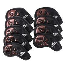 Craftsman 9pcs/set Brown Skull w/ No. Iron Club Head Covers For Mizuno Callaway
