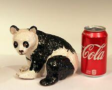 Bellini Vintage Italian Pottery Majolica Panda Bear Animal Figure Raymor