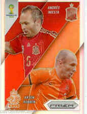 2014 World Cup Prizm Refractors Match Ups No.4 A.ROBBEN / A. INIESTA