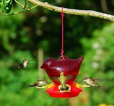 Bird Feeder, Red Bird Shaped Hanging  Hummingbird Birdfeeder
