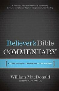 Believer's Bible Commentary by MacDonald, William Hardback Book The Fast Free