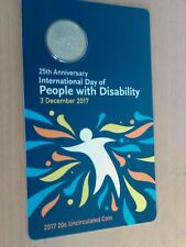 2017 20c 25th International Day of People with Disability twenty cent Coin Unc
