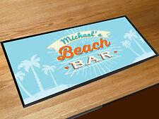 Personalizzato Qualsiasi Nome Spiaggia Blu bar runner counter tappetino Pub &