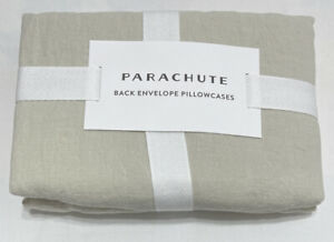 PARACHUTE Back Envelope Pillowcase Set Linen in Bone Size: Standard PILLNNYSTST2