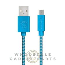 Naztech HyperGear Braided 4ft. Micro USB Charge Sync Cable - Blue/Grey Sync USB