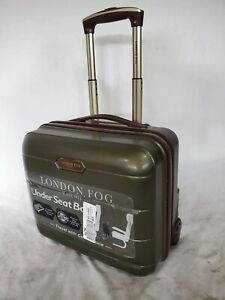 """$200 New Brentwood 15"""" Hardside Under-Seat Carry-On Suitcase Olive Green Luggage"""